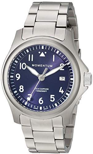 Momentum Men's 'Atlas 38' Quartz Titanium Watch