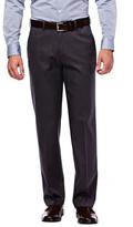 Haggar Premium No Iron Khaki - Classic Fit, Flat Front, Hidden Expandable Waistband