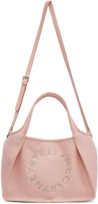 Stella McCartney Pink Linen Logo Tote