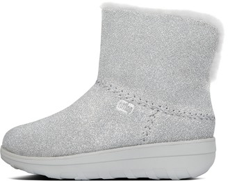 FitFlop Mukluk Shorty Shearling-Lined Lurex Mesh Boots