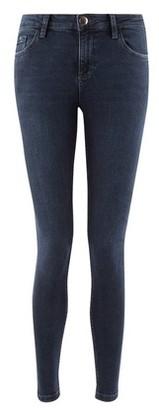 Dorothy Perkins Womens Blue Black 'Darcy' Skinny Ankle Grazer Jeans, Blue