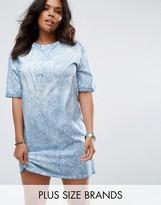 Missguided Plus Oversized Tie Dye T-Shirt Dress