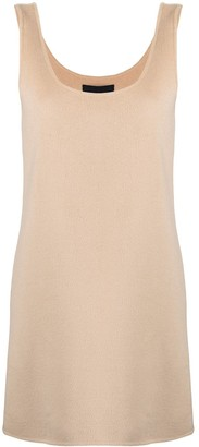Marc Jacobs Square Neck Wool-Blend Dress