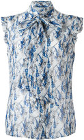 Kiton printed sleeveless shirt - women - Silk - 44