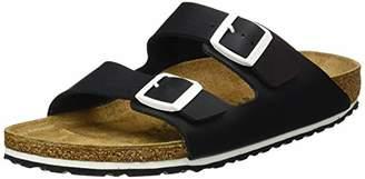 Birkenstock Men's Arizona Open Toe Sandals, Black Noir/Semelle Duo Sport