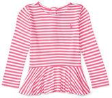 Ralph Lauren Childrenswear Striped Peplum Tee