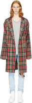 Fear Of God Brown Plaid Robe Coat