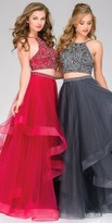 Jovani Beaded Two-Piece Layered Tulle Prom Dress