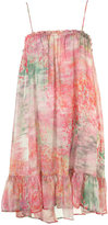 Abstract Floral Smock Dress