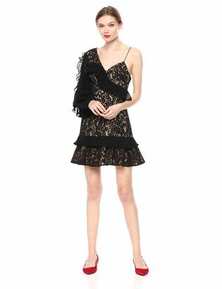 Keepsake Women's Timeless Asymmetric Lace Mini Dress