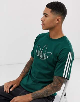 adidas outline logo t-shirt in green