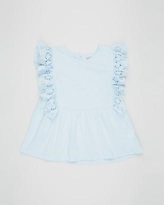 Cotton On Jade Short Sleeve Frill Top - Teens