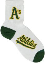 For Bare Feet Oakland Athletics Ankle White 501 Med Socks