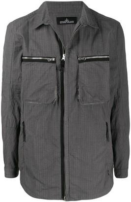 Stone Island Shadow Project Long Sleeve Zipped Pocket Jacket