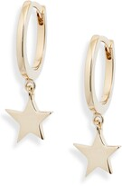 Jennifer Zeuner Jewelry Mika Star Huggie Hoop Earrings