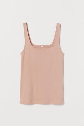H&M Cotton jersey vest top