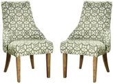 HomePop Woven Lattice Accent Chair 2-piece Set