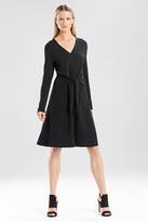 Josie Natori Matte Jersey Self Tie Dress