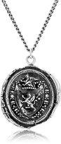 """Pyrrha Talisman Men's Sterling Silver Gryphon Crest Pendant Necklace, 22"""""""