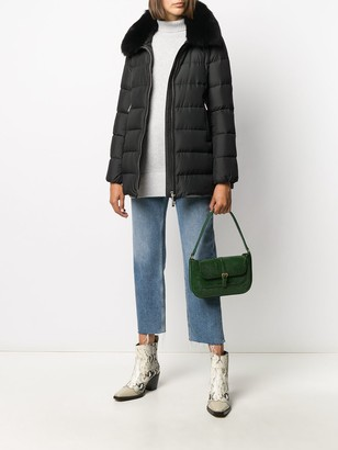 Moorer Faux-Fur Trim Padded Jacket