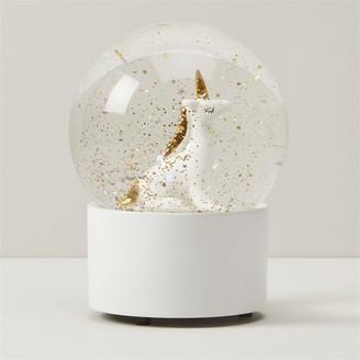 Indigo Snow Globe Unicorn