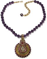 """Heidi Daus Guilty Pleasure"""" Crystal-Accented Enhancer Pendant with 17-1/2"""" Beaded Necklace"""