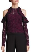Alexis Millie Cold Shoulder Ruffled Lace Top