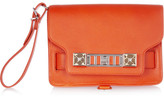 Proenza Schouler The PS11 textured-leather wristlet clutch