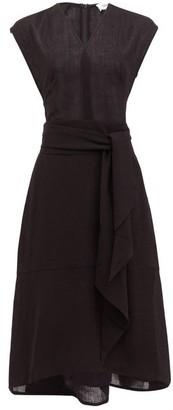 Freya Cefinn Tie-sash Voile Midi Dress - Womens - Black
