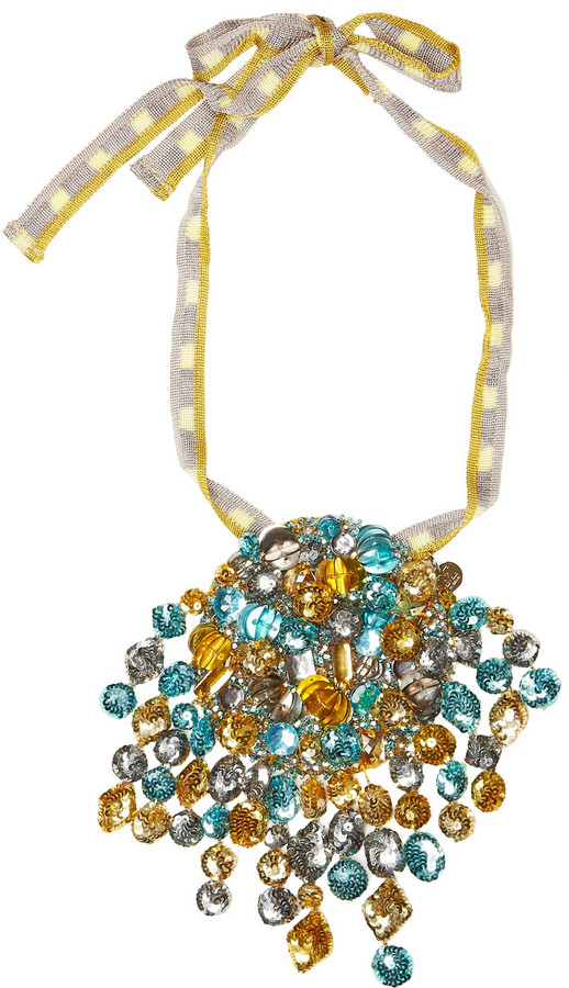 M Missoni Embellished pendant necklace