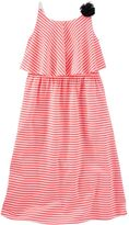 Osh Kosh Girls 4-6x Striped Popover Maxi Dress