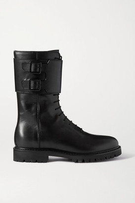 LEGRES 13 Leather Ankle Boots - Black
