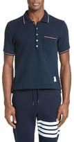 Thom Browne Men's Textured Pocket Polo
