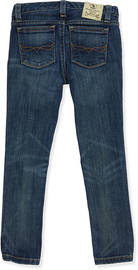 Ralph Lauren Bowery Skinny Denim Jeans, Girls' 2T-3T