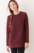 J. Jill Quilted-Front Knit Tunic