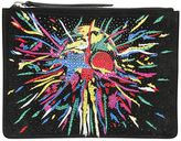Giuseppe Zanotti Design Embellished & Printed Suede Pouch