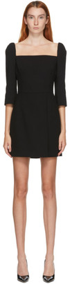 Dolce & Gabbana Black Crepe Square Neck Dress