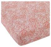 Balboa Baby Cotton Sateen Fitted Crib Sheet - Coral Bloom
