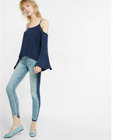 Express Flare Sleeve Cold Shoulder Tee