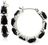 Nine West Faceted Stone Hoop Earrings
