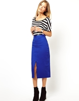 Asos Column Skirt with Front Split