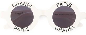 Chanel Pre Owned CC logos sunglasses eye wear