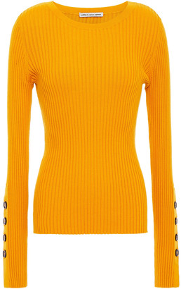 Cotton By Autumn Cashmere Ribbed Cotton-blend Sweater