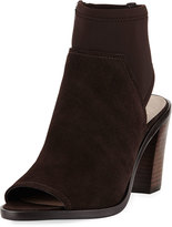 Donald J Pliner Kleo Open-Toe Suede Bootie, Dark Brown