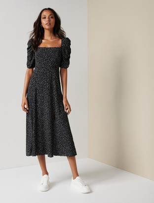 Forever New Willow Printed Midi Dress - Clustered Black Spot - 16