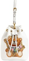 Moschino TEDDY FAUX LEATHER BUCKET BAG