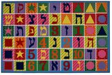 Fun Rugs Fun Time Hebrew Numbers & Letters Rug