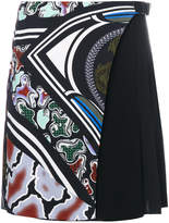 Versace side pleated skirt
