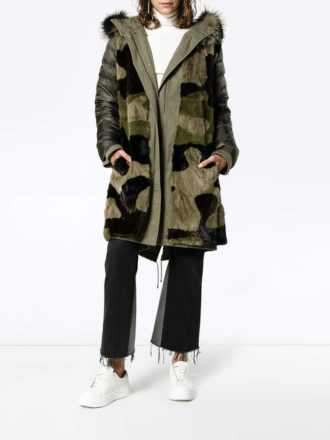 Yves Salomon reversible army parka with fur lining