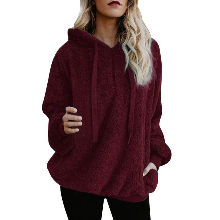 f100f1b69 Red Short Sleeved Hoodie - ShopStyle Canada